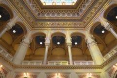 Inside ornaments of Sarajevo City hall Royalty Free Stock Photography