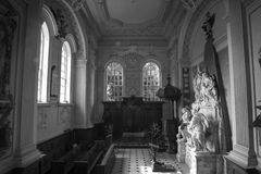Inside an ornate chapel, England. Inside an ornately decorated chapel in England Stock Images