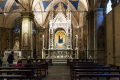 Inside of Orsanmichele church in Florence Stock Photo
