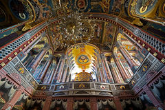 Inside in the orthodox Holy Trinity cathedral Stock Image