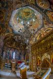 Inside the orthodox monastery of Mraconia, Romania royalty free stock image