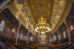 Inside of the Orthodox Synagogue, Oradea, Romania Royalty Free Stock Photography