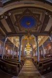 Inside of the Orthodox Synagogue, Oradea, Romania Royalty Free Stock Photo