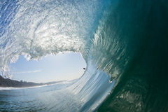 Inside Out Hollow Tube Crashing Wave Royalty Free Stock Images