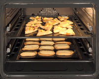 Inside oven royalty free stock photo
