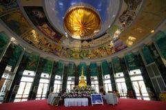Inside pagoda. Royalty Free Stock Photo
