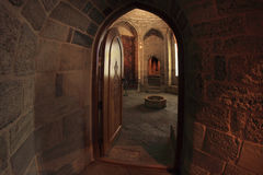 Inside of the palace of the Shirvanshahs, Azerbaijan Stock Photo
