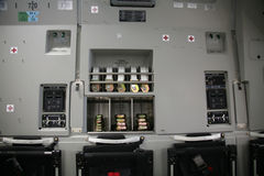 Inside Panel of Military Aircraft C-17 stock photography