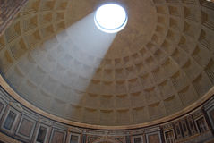 Inside the Pantheon. This picture was taken inside the Pantheon in Rome, looking up at the ceiling stock photos