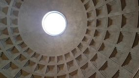 Inside Pantheon. Inside ancient Pantheon - rotunda with statues, paintings and other decoration in Rome, Italy stock video