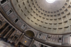 Inside the Pantheon building in Rome, Italy Stock Images