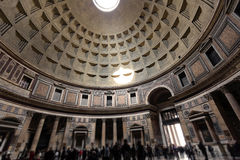 Inside the Pantheon building in Rome, Italy Royalty Free Stock Photo
