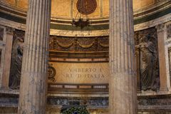 Inside the Pantheon - one of the most famous building in Rome, Italy Royalty Free Stock Photos