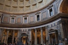 Inside the Pantheon - one of the most famous building in Rome, Italy Stock Photo