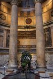 Inside the Pantheon - one of the most famous building in Rome, Italy Royalty Free Stock Image