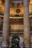 Inside the Pantheon - one of the most famous building in Rome, Italy Stock Images