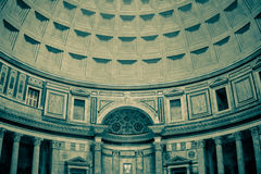 Inside the Pantheon in Rome. In the Pantheon in Rome Stock Photos