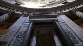 Inside the Pantheon, Rome stock video