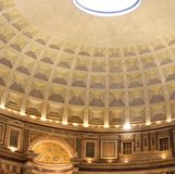 Inside the Pantheon, Rome, Italy Stock Images