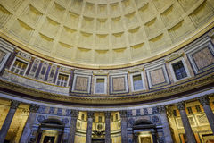 Inside the pantheon rome Italy europe Royalty Free Stock Images