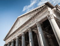 Inside The Pantheon, Rome. A view from within The Pantheon, one of Rome's most popular landmarks Royalty Free Stock Photo
