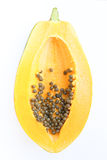 Inside papaya Royalty Free Stock Photography