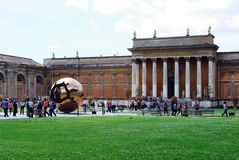 Inside in the park of the Vatican museum Royalty Free Stock Image