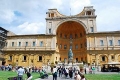 Inside in the park of the Vatican museum Stock Photos