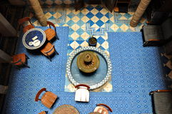 Inside part of a typical accommodation in Morocco Stock Photo