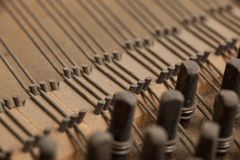 Inside piano. Inside parts of an old piano Royalty Free Stock Image