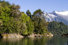 Inside Passage Of The Chilean Fjords Stock Photos