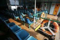 Inside passenger boat Stock Photo