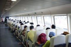 Inside passenger cabin of ship Stock Image