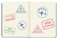 Inside of a passport. Illustration stock illustration