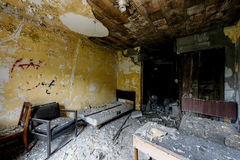 Patient Room - Abandoned Hospital & Nursing Home royalty free stock photos