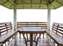 Inside of the pavilion Stock Photography