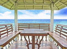 Inside of the pavilion Royalty Free Stock Photography