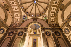 Inside Pazzi chapel in Basilica di Santa Croce. FLORENCE, ITALY - NOVEMBER 6, 2016: inside Pazzi chapel in Basilica di Santa Croce Basilica of the Holy Cross in Royalty Free Stock Photo