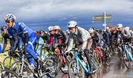 Inside the Peloton - Paris-Nice 2017 Stock Images