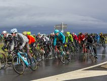 Inside the Peloton - Paris-Nice 2017 royalty free stock images