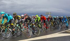 Inside the Peloton - Paris-Nice 2017 stock photography