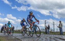 Inside the Peloton - Paris Roubaix 2016 royalty free stock photos