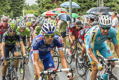 Inside the Peloton in the Rain Stock Photography