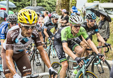 Inside The Peloton in a Rainy Day Royalty Free Stock Images