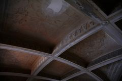 Inside of Pena Palace in Sintra, Lisbon district, Portugal. Old ceiling . Royalty Free Stock Photos
