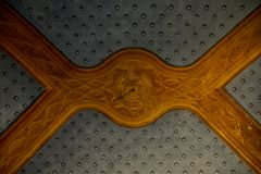 Inside of Pena Palace in Sintra, Lisbon district, Portugal. Old ceiling . Stock Photography