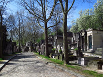 Inside Perl Lachaise Cemetery  1 Stock Images