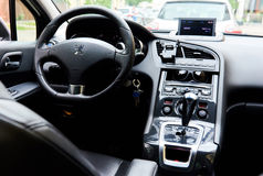 Inside of a Peugeot 5008 Royalty Free Stock Image