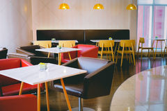 Inside Photo of a Restaurant Royalty Free Stock Photography