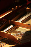 Inside piano. Inside a piano, close up Royalty Free Stock Photography